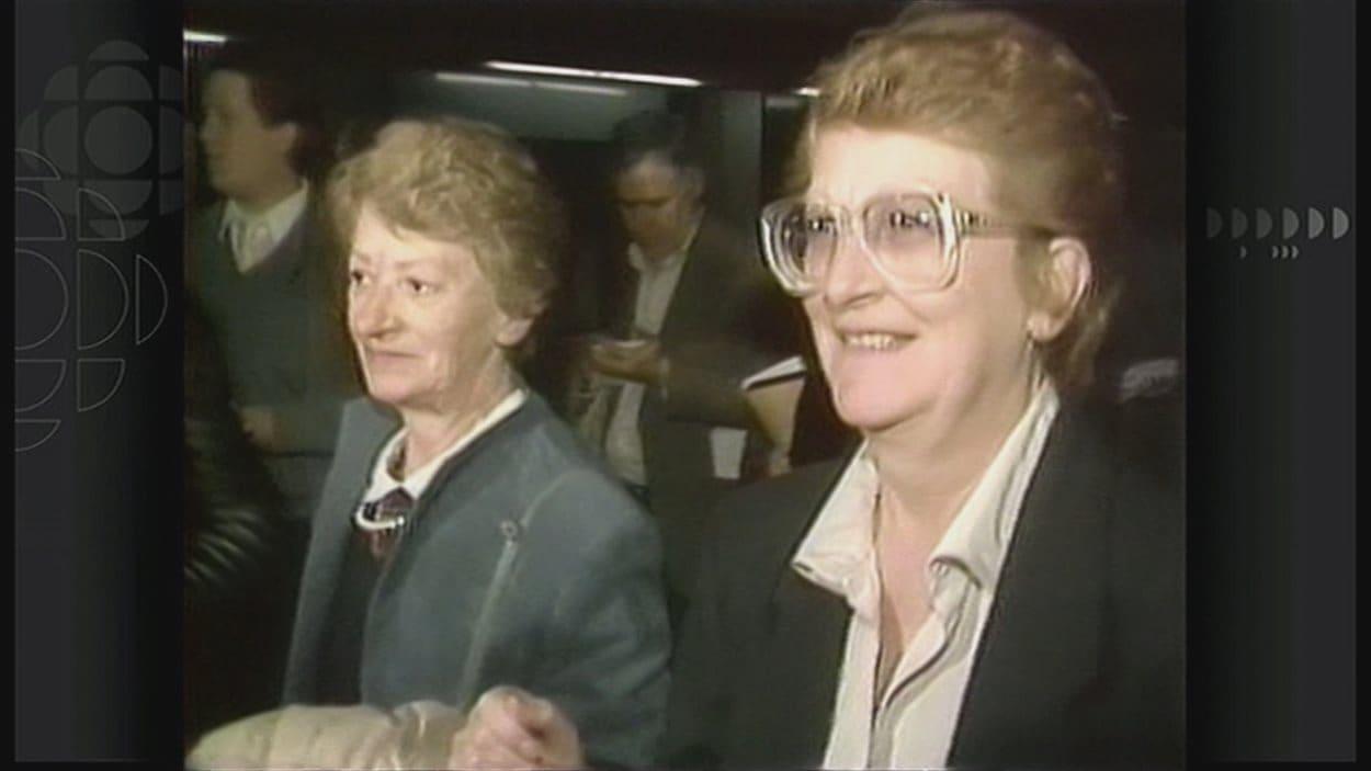 Laurence et Micheline Lévesque ont été acquittées de trafic de drogue en 1987.