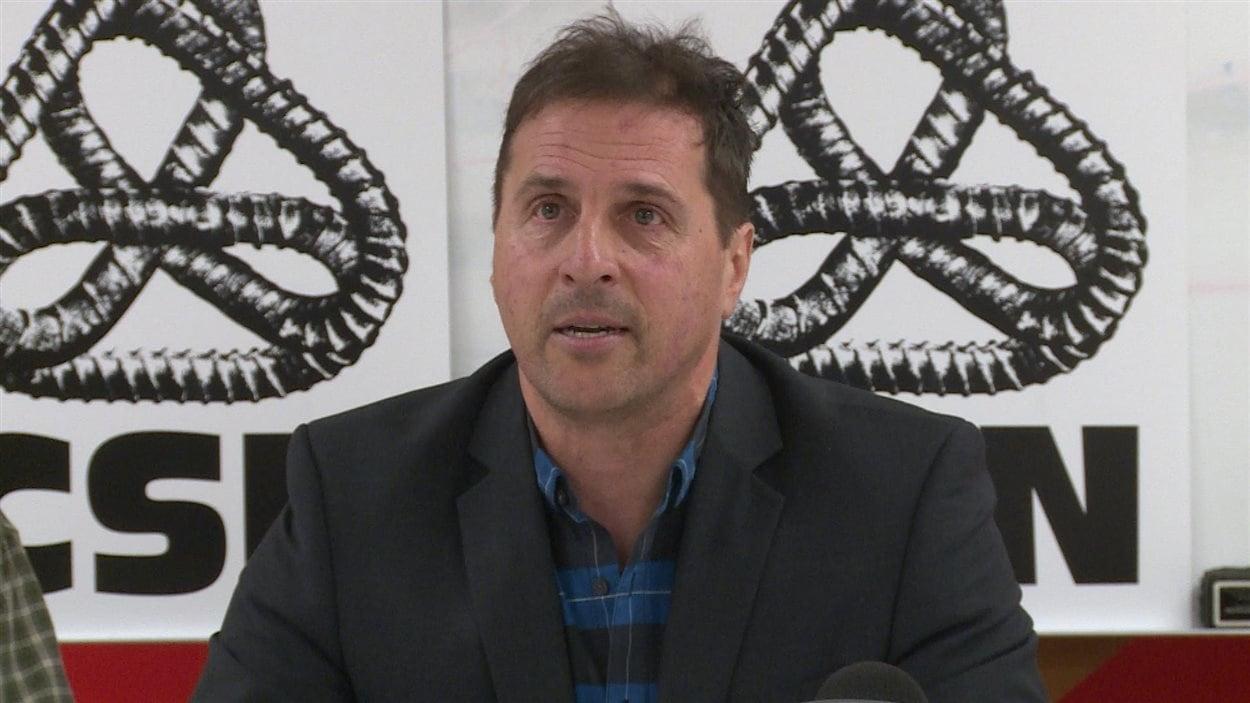 Le président de la CSN Côte-Nord, Guillaume Tremblay.