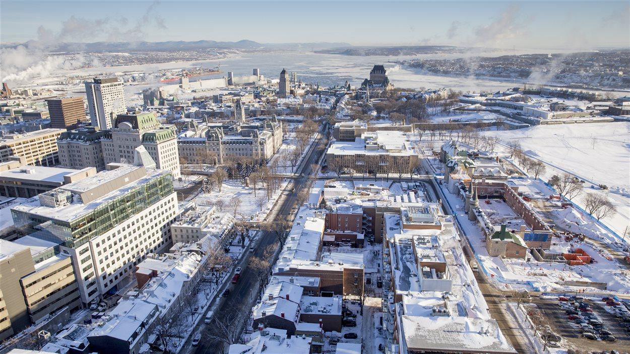 La ville de Québec, vue sur le Vieux-Québec