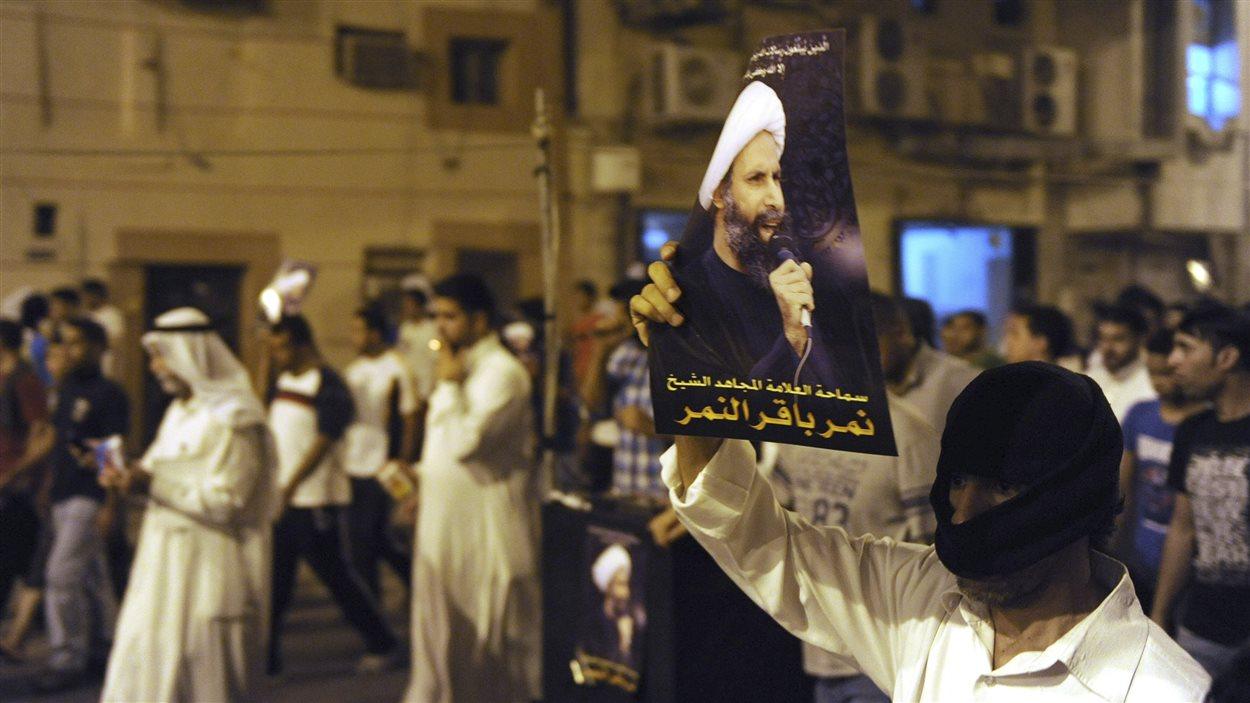 Manifestation dans la ville de Qatif en juillet 2012 lors de l'arrestation de Nimr al-Nimr. (archives)