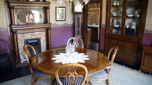 La salle à manger de la maison où a eu lieu une partie du tournage du film «Le silence des agneaux»