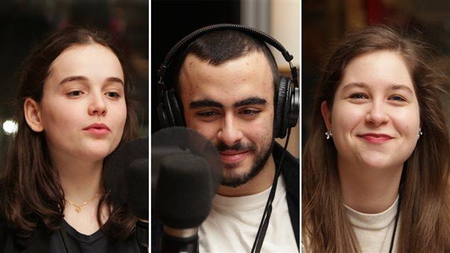 Laurence Tremblay, Gali Bonin et Geneviève Péladeau