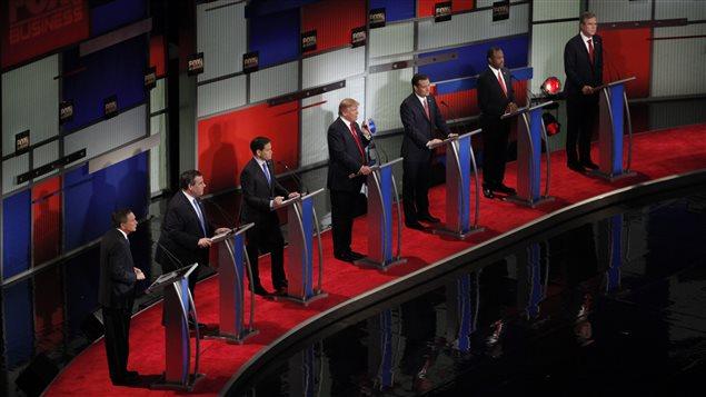 Les sept candidats qui briguent l'investiture républicaine.