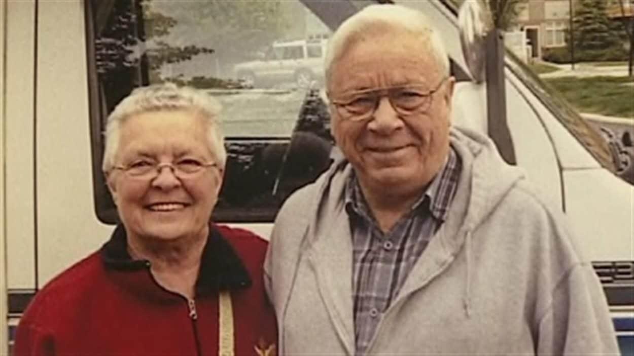 Peggy Bush et son mari, David, décédé.