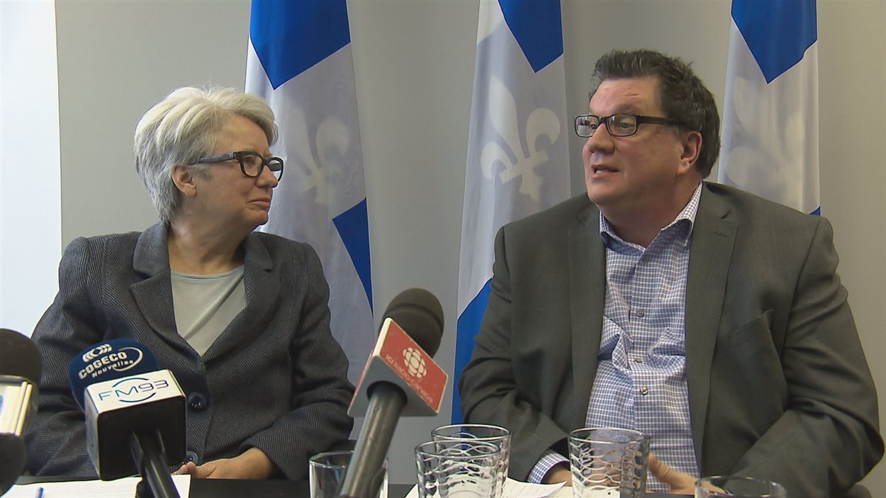 Agnès Maltais et Luc Vigneault