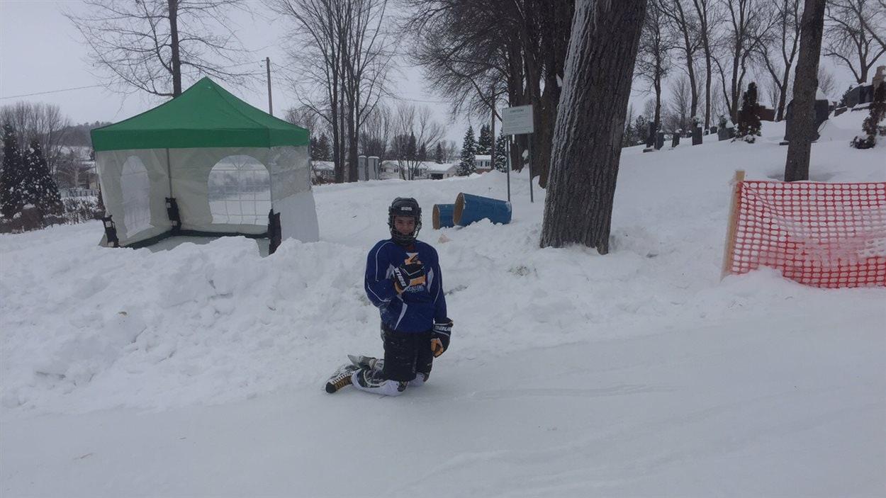 Un patineur s'est risqué sur le parcours du Ice Challenge