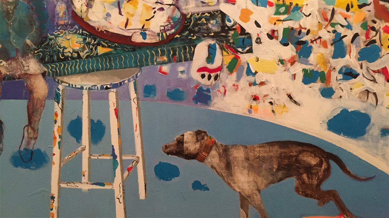La symbolique des animaux est très forte dans les oeuvres de Louisette Gauthier-Mitchell.