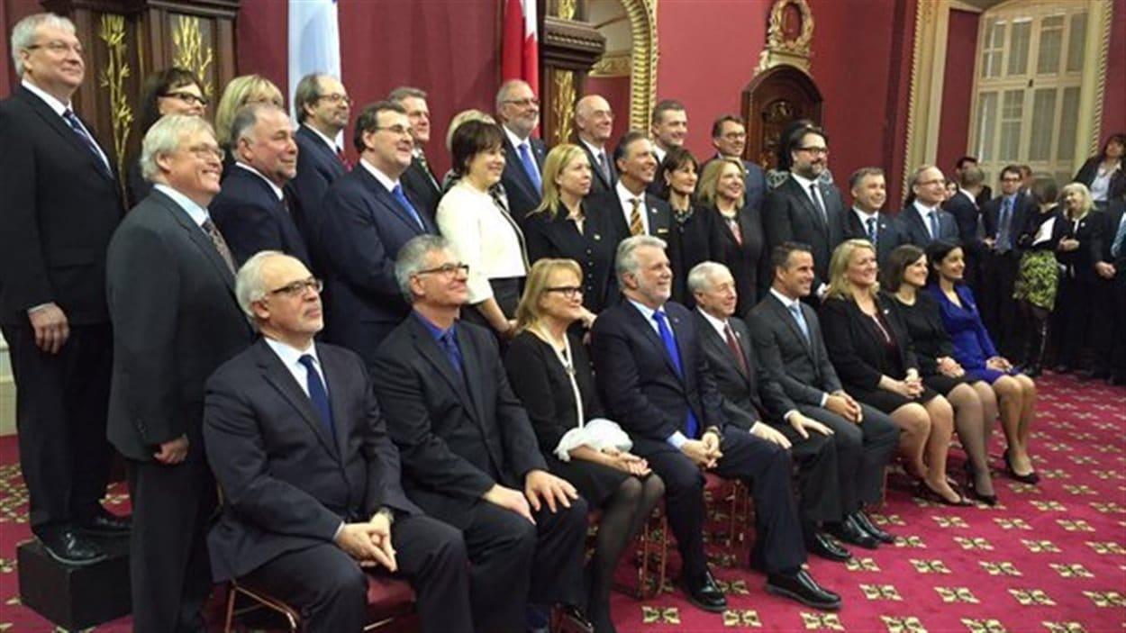 Le nouveau Conseil des ministres du gouvernement libéral de Philippe Couillard.