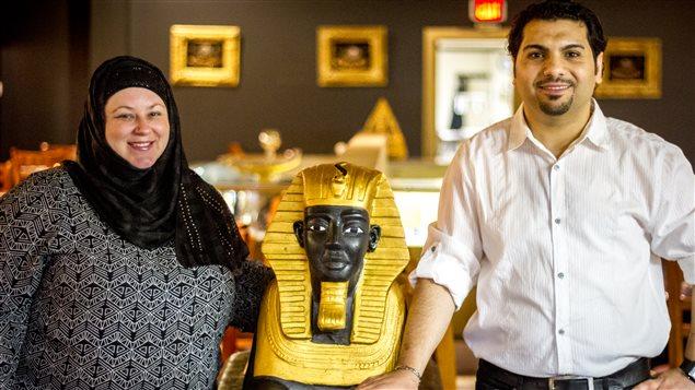 Paula et Ehab Radwan, les propriétaires du restaurants Taste Of Egypt à Saint-Jean N.-B.