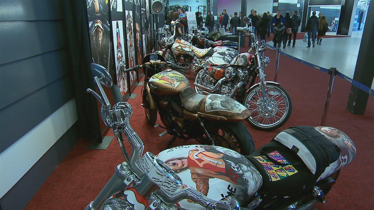 Des motocyclettes au Salon Moto et VTT de Québec