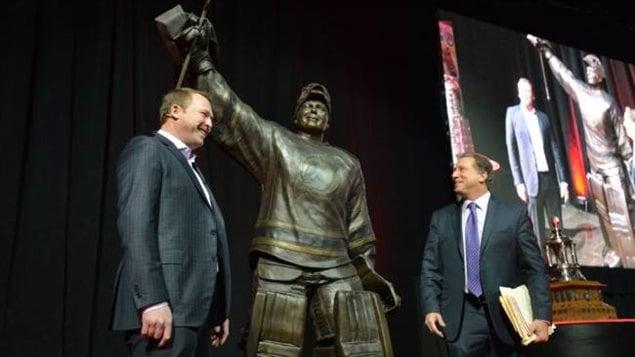Martin Brodeur et sa statue de bronze
