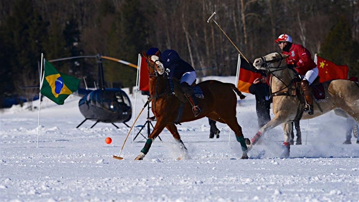 International de polo sur neige Tremblant 2015