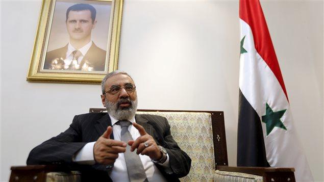 Le ministre syrien de l'Information Omran Al-Zoubi.