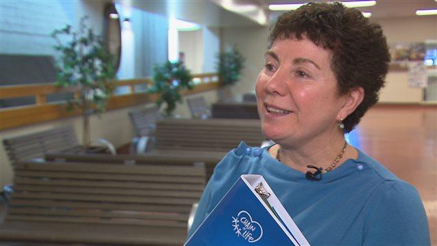 Lucie Dumont, enseignante à Rivière-du-Loup, fondatrice du projet Chaîne de vie.