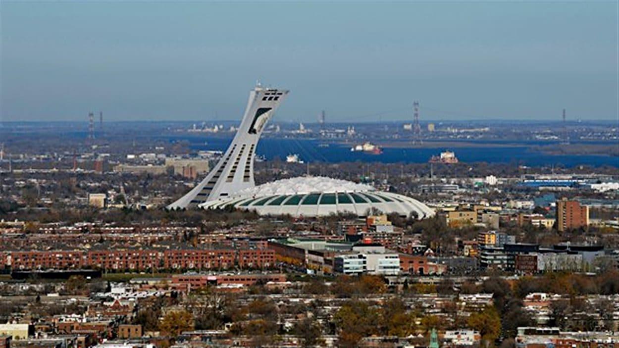 Stade olympique, dans le quartier Hochelaga-Maisonneuve