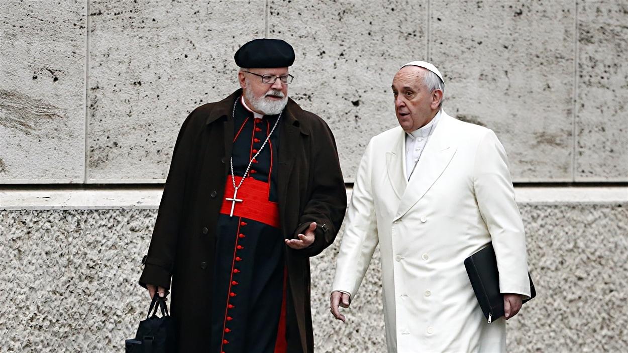 Sean O'Malley et le pape François (archives)