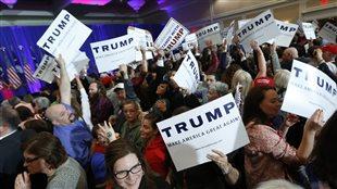 Des partisans de Donald Trump en Caroline du Sud