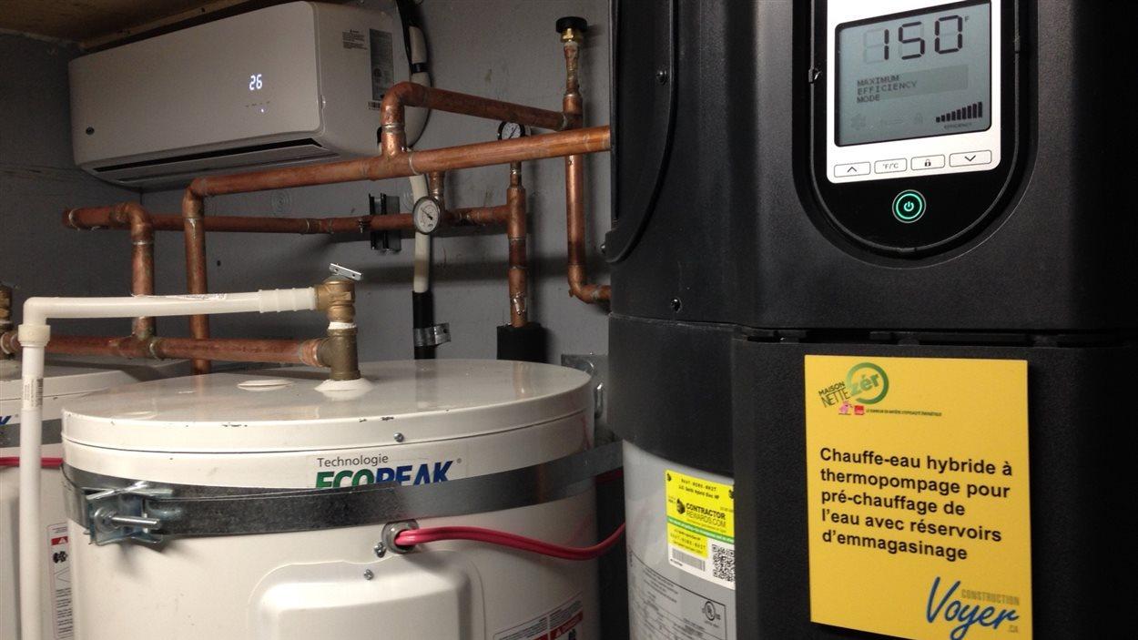 Une thermopompe qui permet de chauffer ou de climatiser avec seulement le tiers de l'énergie habituellement requise