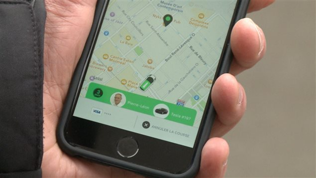 Application du service de taxis électriques Téo Taxi
