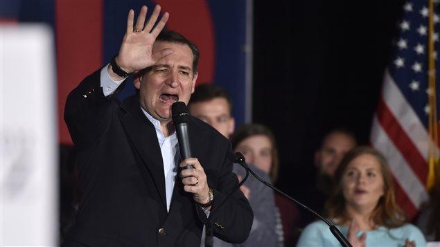 Ted Cruz s'exprime devant ses sympathisants à Las Vegas, au Nevada, le soir du caucus républicain.