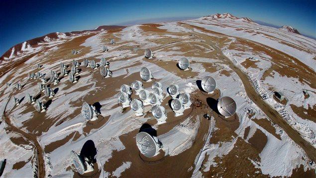 Le grand réseau d'antennes (sub-)millimétrique de l'Atacama (ALMA)
