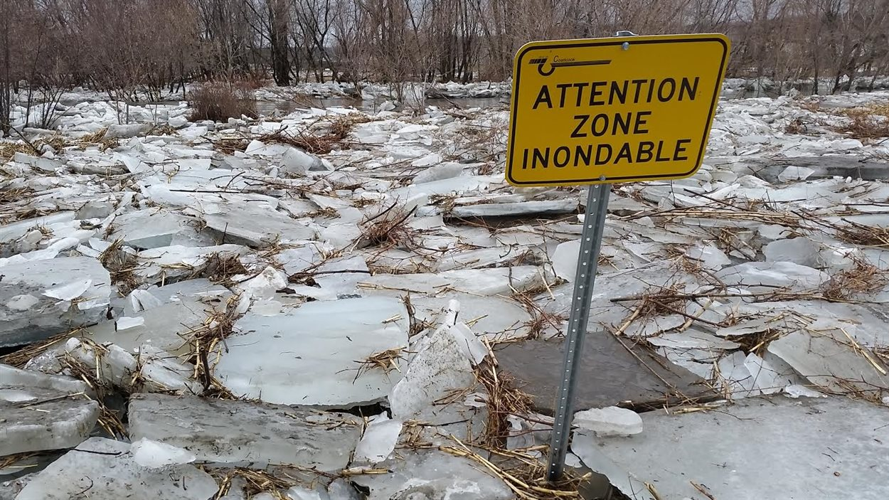 Attention zone inondable à Coaticook.