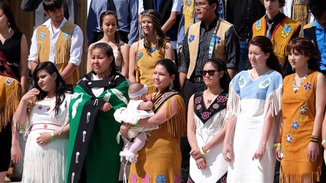 quelques uns des gradués autochtones de 2015