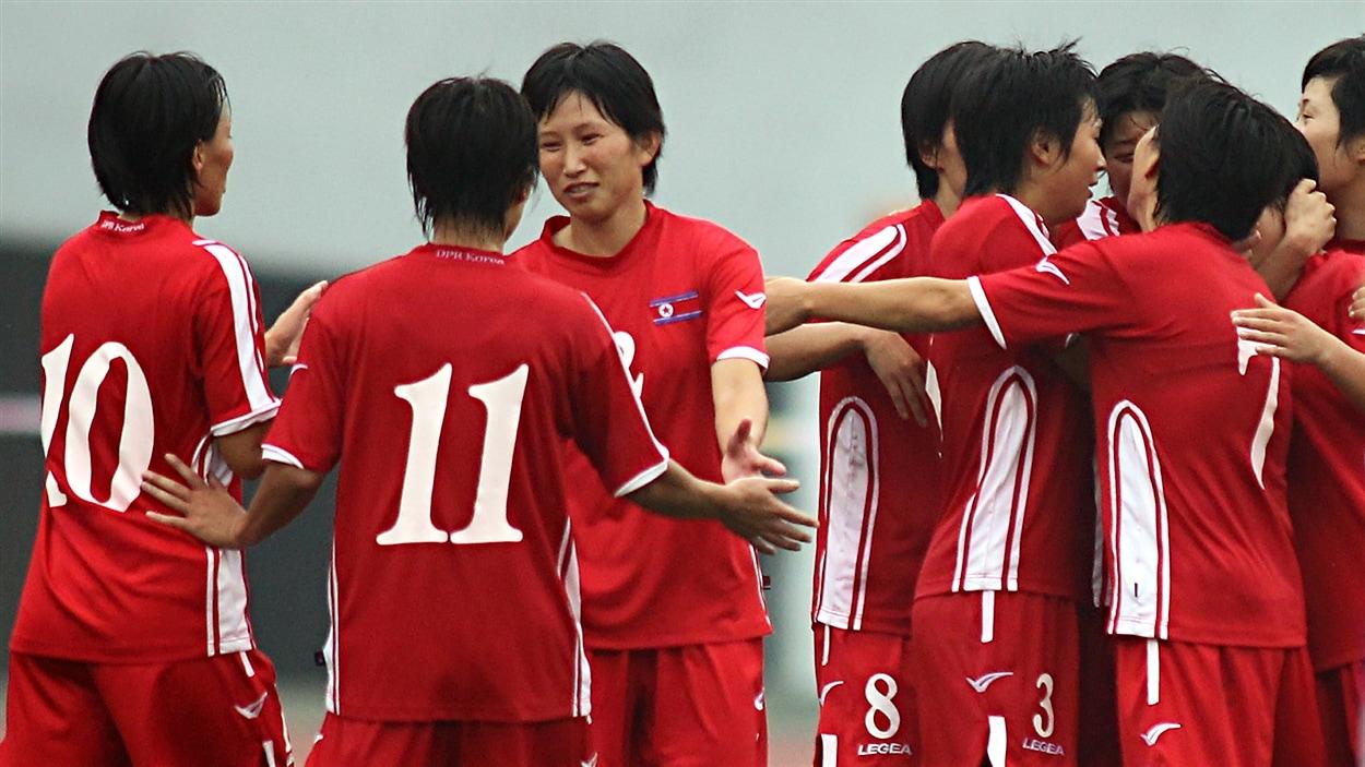 L'équipe nord-coréenne de soccer