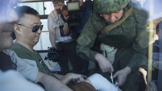 Un journaliste chinois blessé lors des explosions près de la frontière turque.