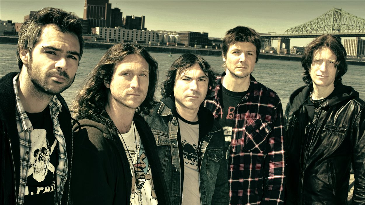 Le groupe Grimskunk, en 2012