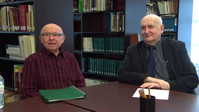 Roger Legal (à g.) et Normand Boisvert