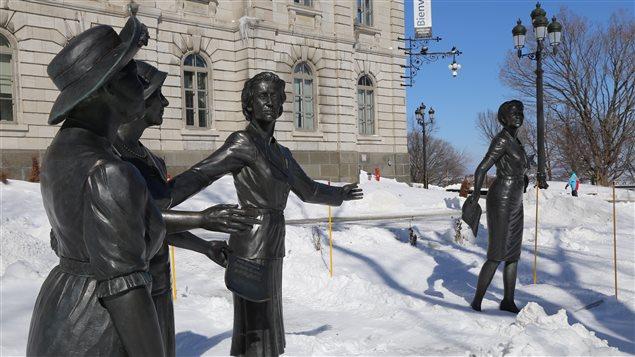 Le Monument hommage aux femmes en politique à Québec