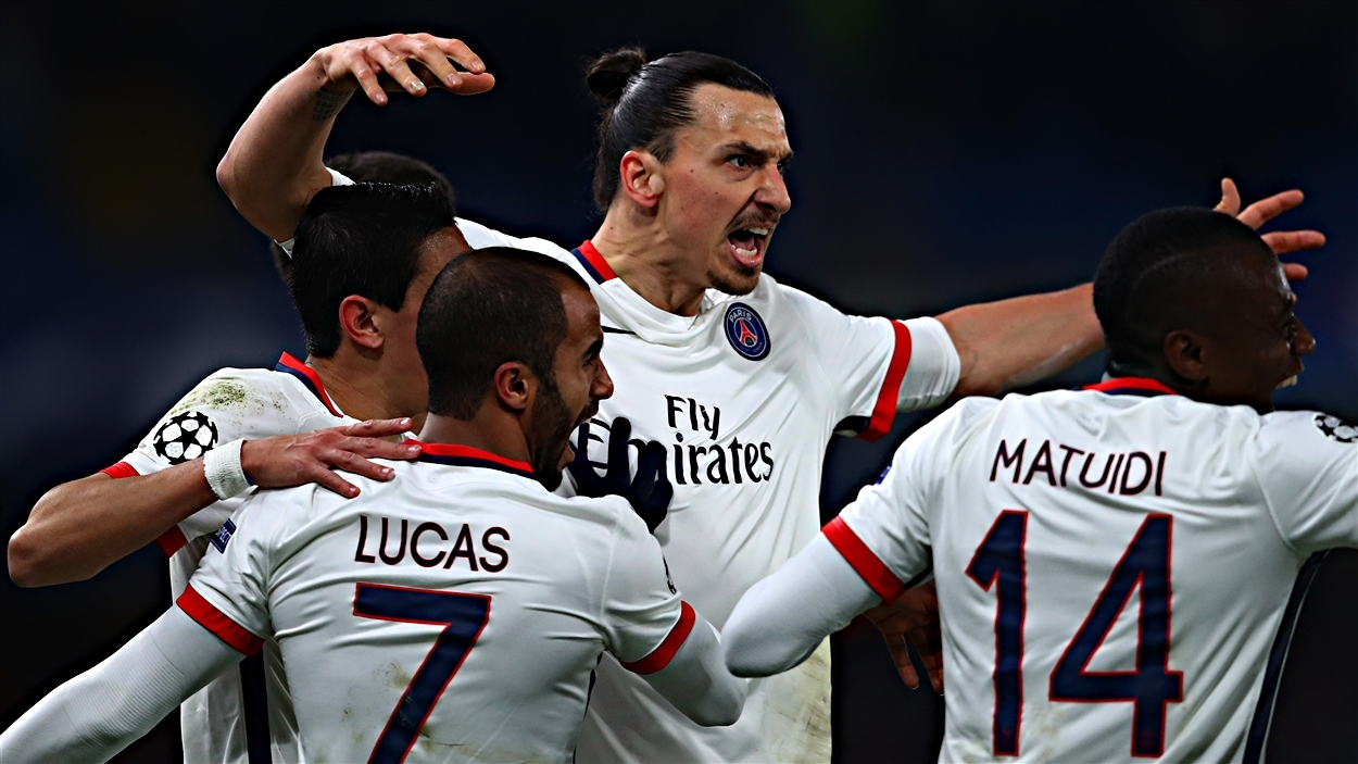 Zlatan Ibrahimovic du Paris Saint-Germain