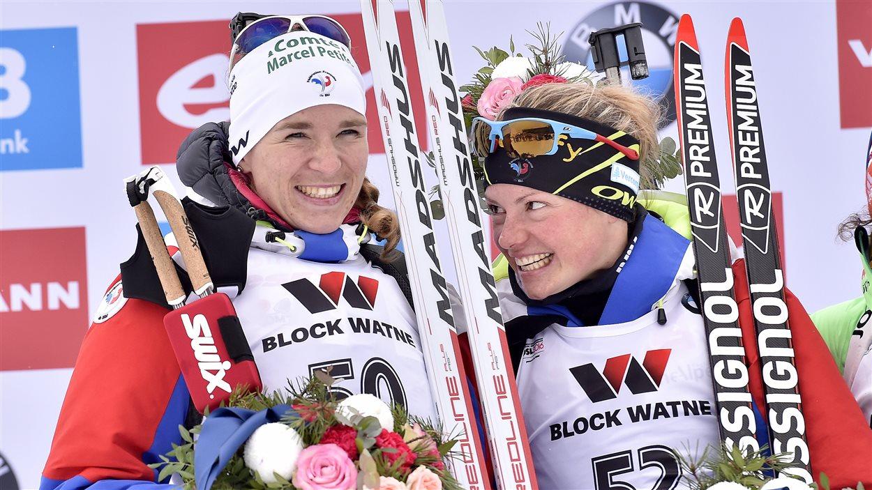 Marie Dorin-Habert et Anaïs Bescond