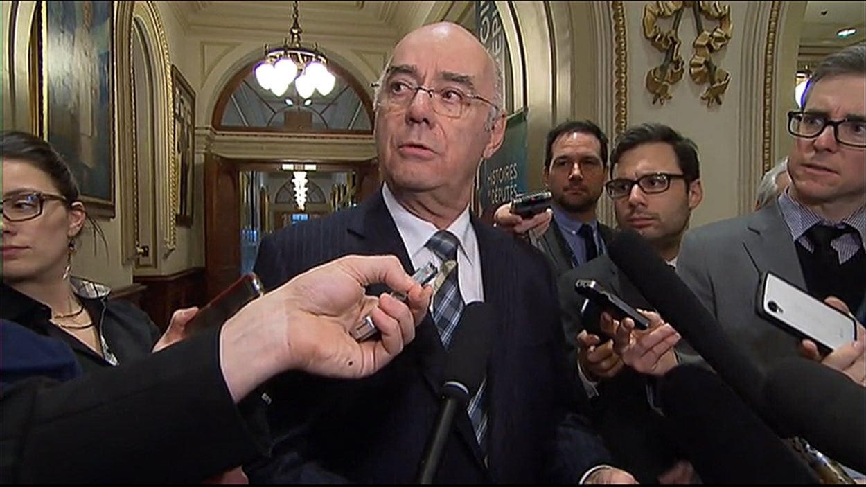 Le ministre des Transports, Jacques Daoust