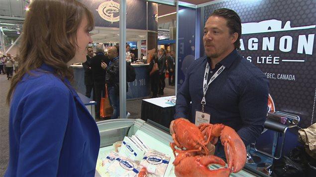 Bill Sheehan, vice-président de E. Gagnon et fils de Saint-Thérère-de-Gaspé au Seafood Expo 2016 à Boston