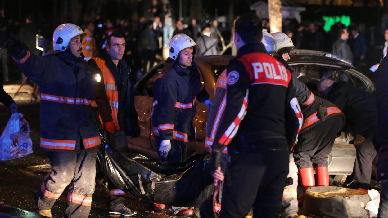 Une explosion a secoué dimanche le centre d'Ankara, la capitale de la Turquie.
