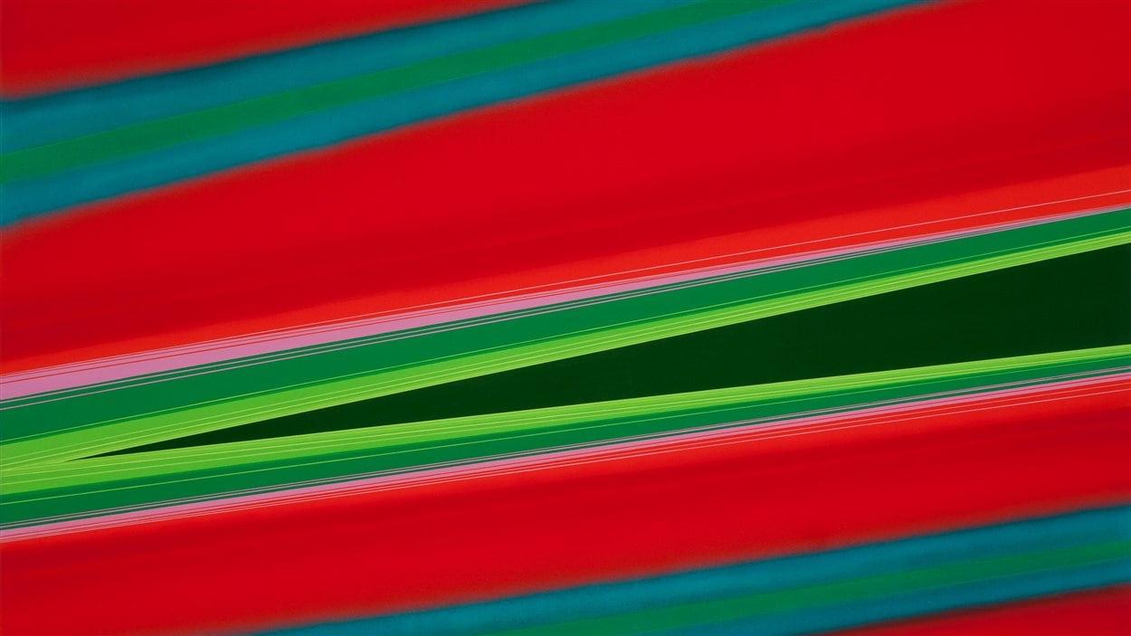 Rita Letendre, Malapeque II, 1973, Acrylique sur toile, 152,5 x 203,2 cm, Don anonyme | Collection Musée d'art contemporain de Montréal