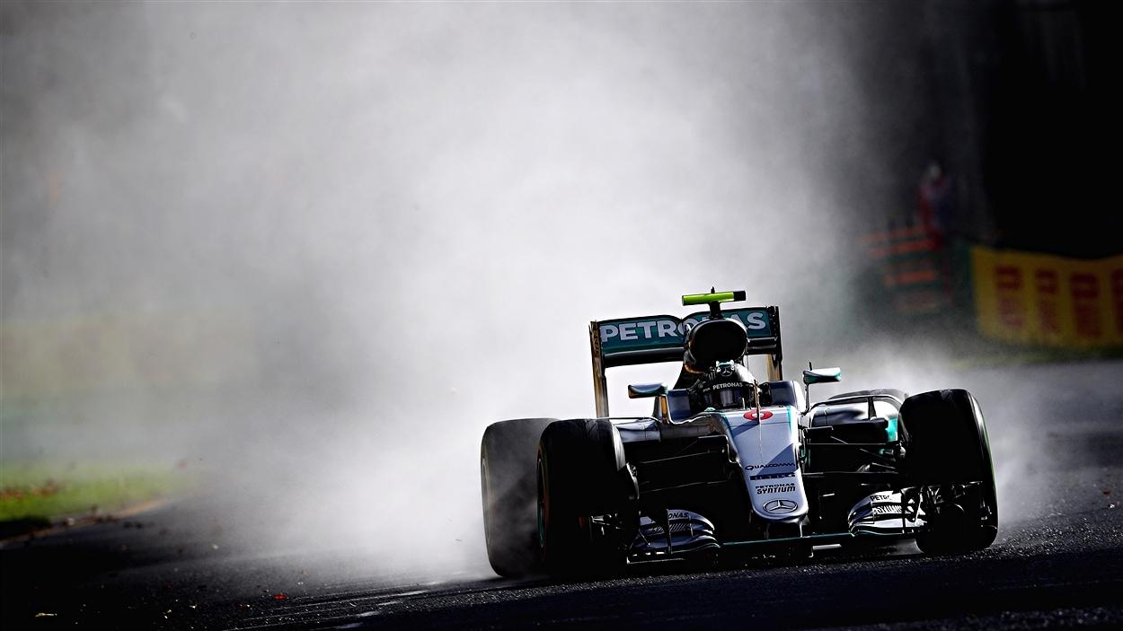 Nico Rosberg sous la pluie