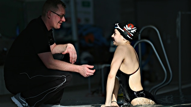 Yusra Mardin et son entraîneur, Sven Spannekrebs