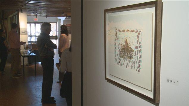 Le tableau intitulé «Le clocher de Vétheuil», de Jean-Paul Riopelle, fait partie des œuvres vendues.