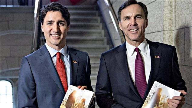 Le premier ministre Justin Trudeau et le ministre des Finances, Bill Morneau.