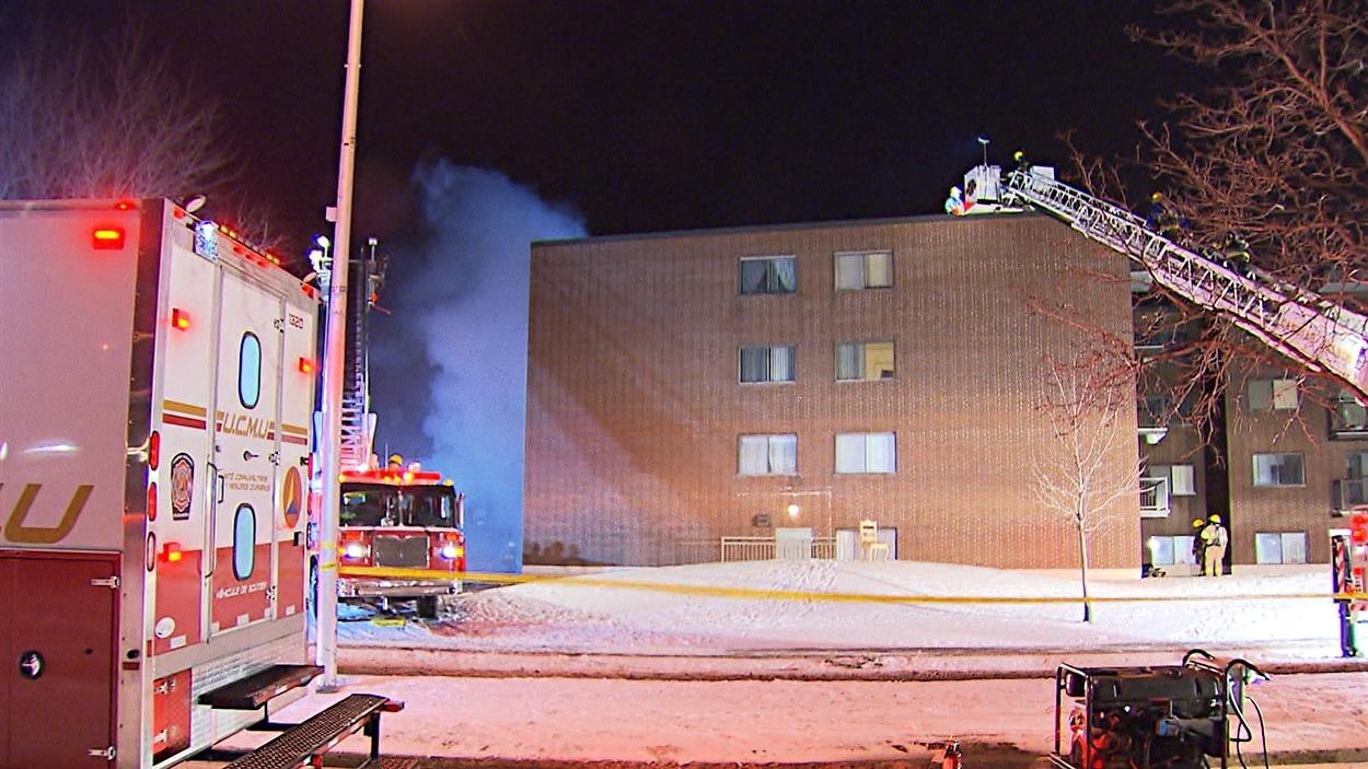 L'immeuble est situé à l'angle des rues Maple et McLeod.