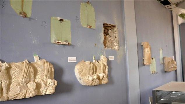 De nombreux artefacts du Musée de Palmyre ont été détruits par l'EI.