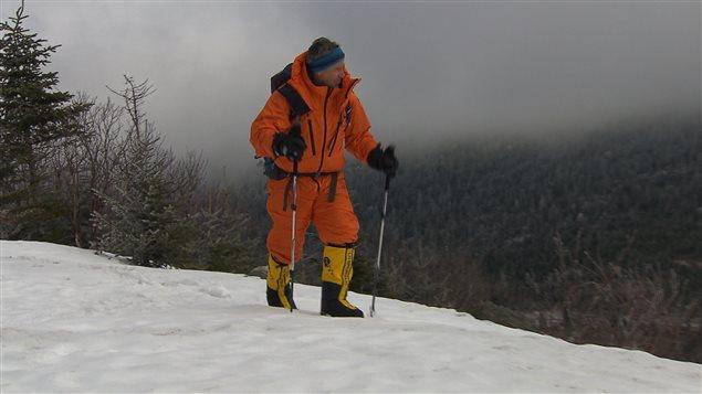 L'alpiniste Jean-François Tardif au mont Mégantic