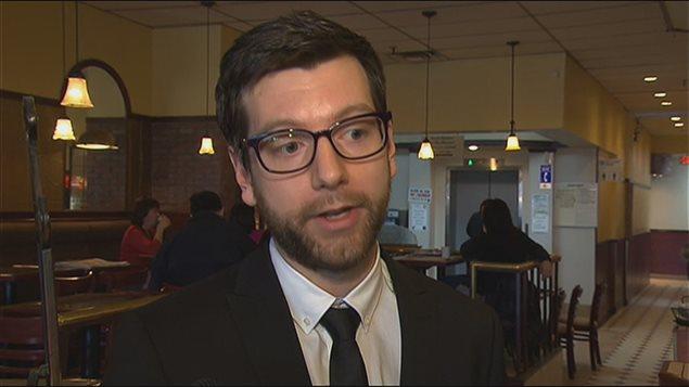 Le chef du Parti vert du Québec, Alex Tyrrell