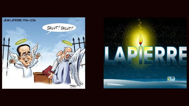 Caricatures en la mémoire de Jean Lapierre