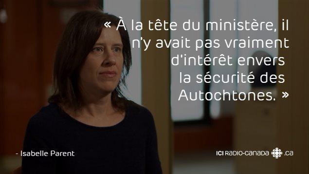Citation d'Isabelle Parent