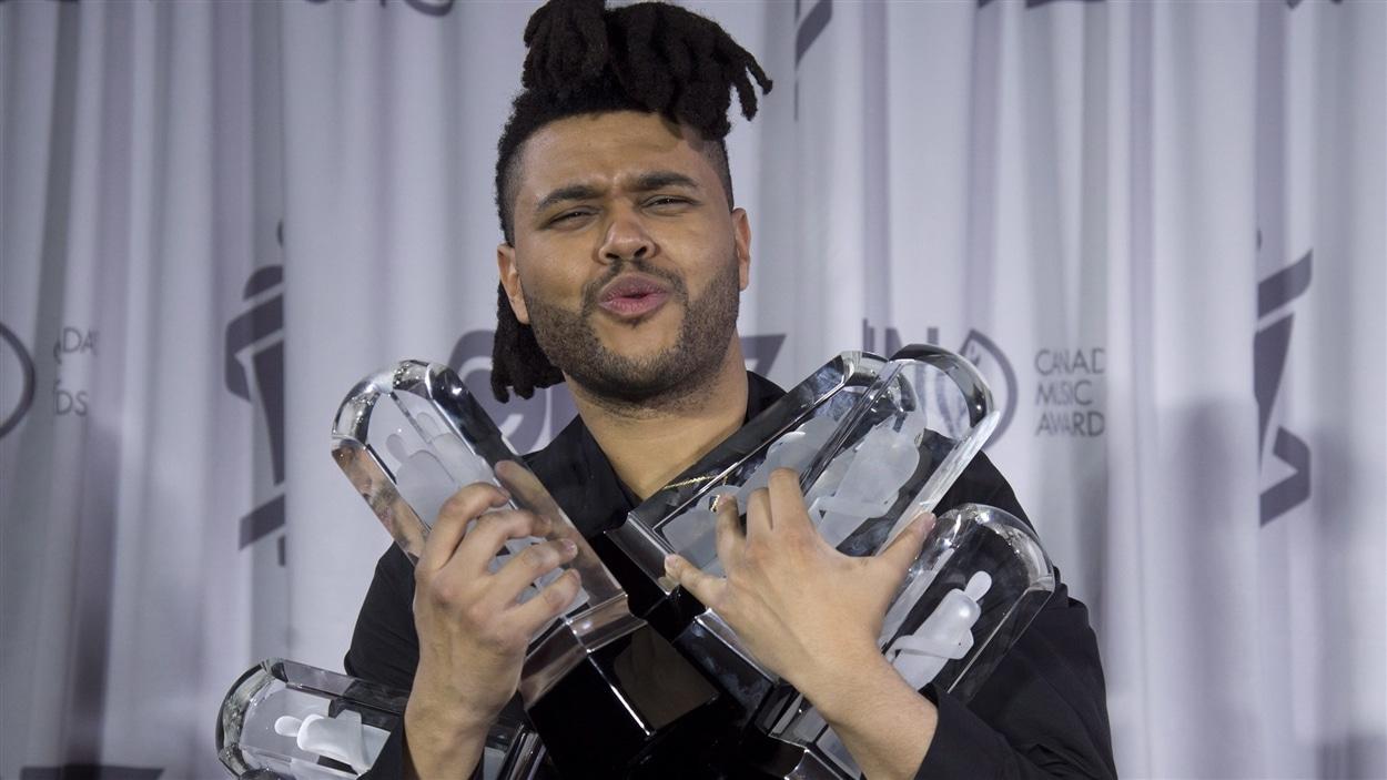 the Weeknd a remporté cinq prix Juno, dont artiste de l'année
