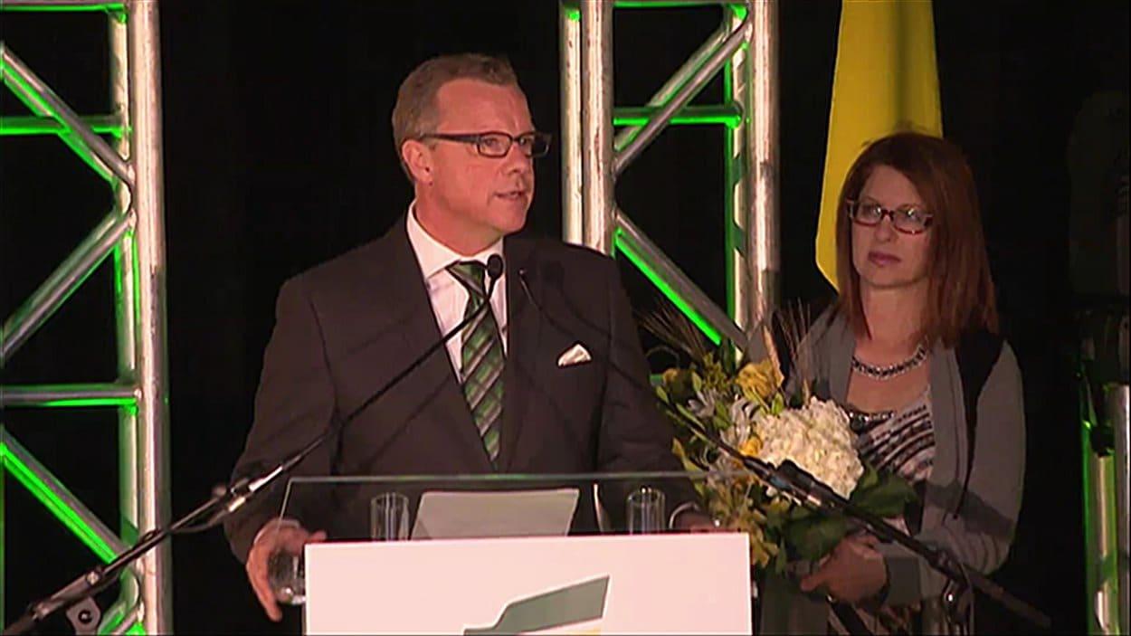 Le chef du Parti Saskatchewanais, Brad Wall